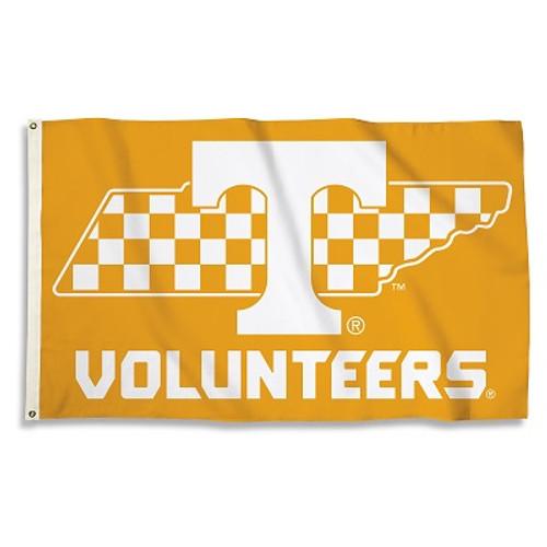 Tennessee Volunteers State Outline Flag