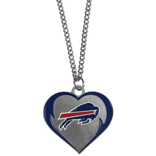 Buffalo Bills Heart Necklace