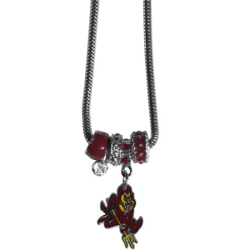 Arizona State Sun Devils Euro Bead Necklace