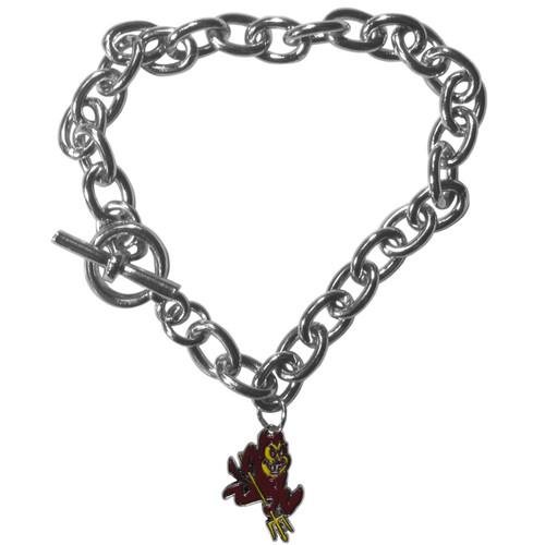 Arizona State Sun Devils Charm Chain Bracelet