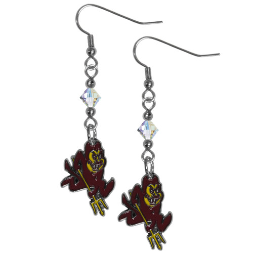 Arizona State Sun Devils Crystal Dangle Earrings