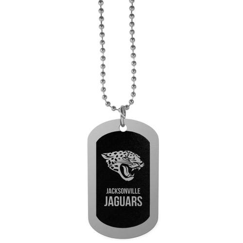 Jacksonville Jaguars Chrome Tag Necklace