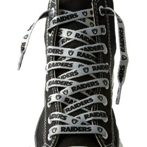 Las Vegas Raiders NFL Shoe Laces - Silver