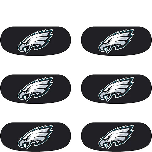 Philadelphia Eagles Logo Eye Black Strip Stickers 6ct