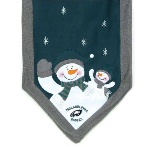 Philadelphia Eagles NFL Holiday Snowman Table Runner
