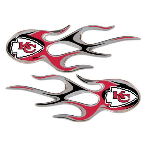 Kansas City Chiefs NFL Flame Graphic Decals (2)