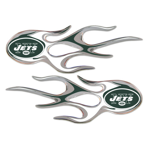 New York Jets NFL Flame Graphic Decals (2)