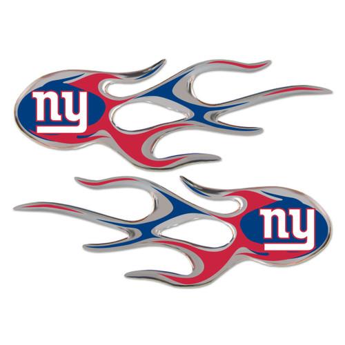 New York Giants NFL Flame Emblem Decal