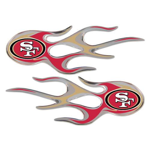 San Francisco 49ers NFL Flame Emblem Decal