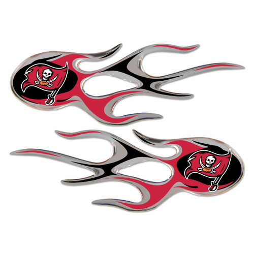 Tampa Bay Buccaneers NFL Flame Emblem Decal