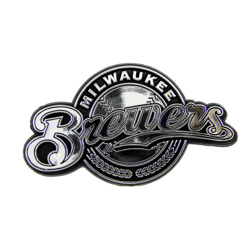 Milwaukee Brewers Molded Chrome Emblem