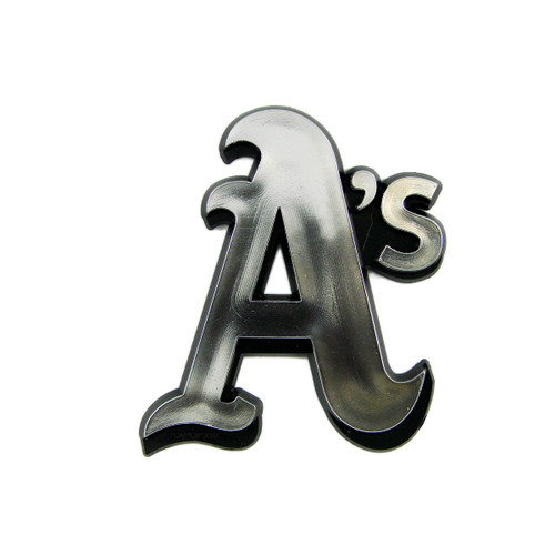 Oakland Athletics Molded Chrome Emblem