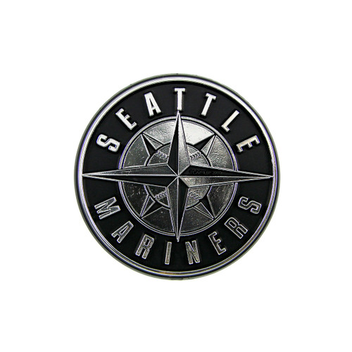 Seattle Mariners MLB 3D Chrome Emblem Decal Sticker