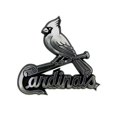 St Louis Cardinals Molded Chrome Emblem