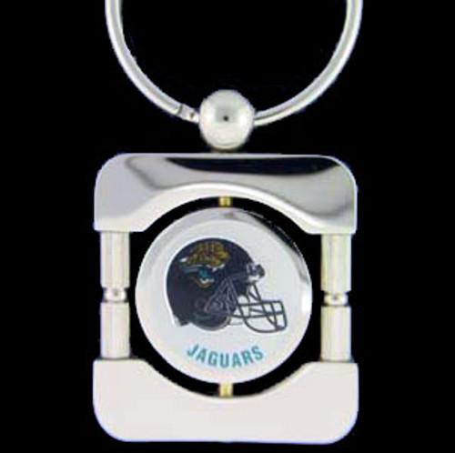 Jacksonville Jaguars NFL 360 Degree Silver Key Chain