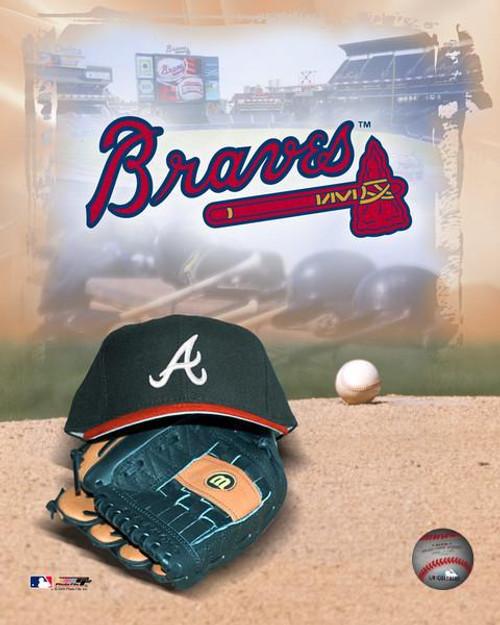 """Atlanta Braves MLB Logo Photo - 8"""" x 10"""""""