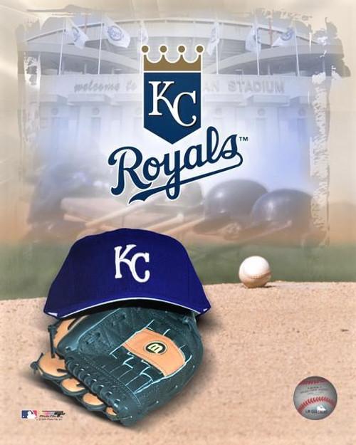 "Kansas City Royals MLB Logo Photo - 8"" x 10"""
