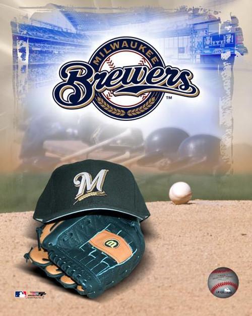 "Milwaukee Brewers MLB Logo Photo - 8"" x 10"""