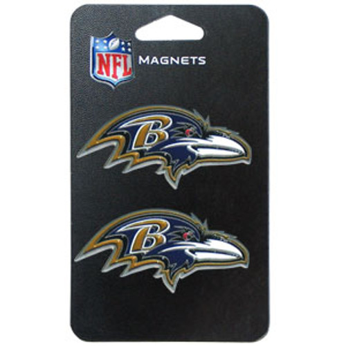 Baltimore Ravens NFL 3D Logo Magnet Set (2)