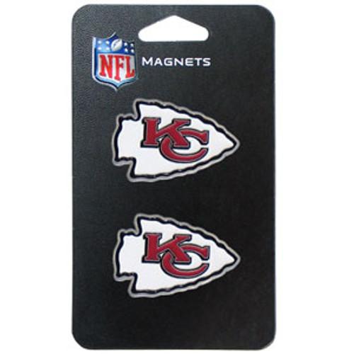 Kansas City Chiefs NFL 3D Logo Magnet Set (2)