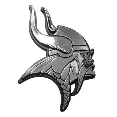 Minnesota Vikings NFL 3D Chrome Emblem Decal Sticker