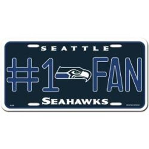 Seattle Seahawks NFL Metal License Plate Tag
