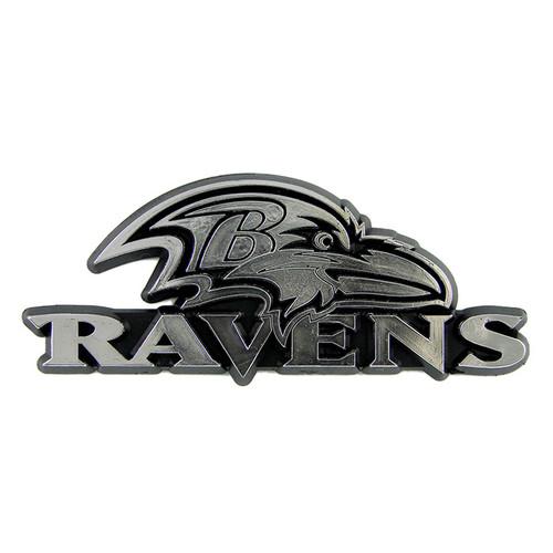 Baltimore Ravens Molded Chrome Emblem