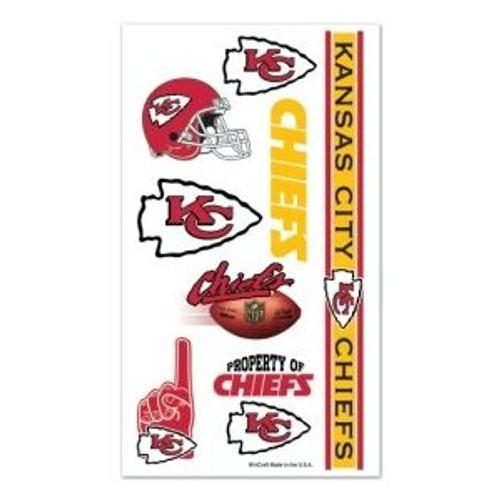 Kansas City Chiefs NFL Face Paint Tattoo Decals (10 Pack)