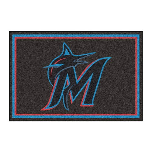 Miami Marlins 5' x 8' Ultra Plush Area Rug