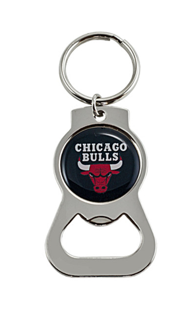 Chicago Bulls Key Chain - Bottle Opener - Black