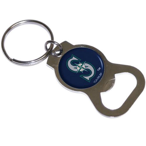 Seattle Mariners MLB Logo Blue Metal Bottle Opener Key Chain