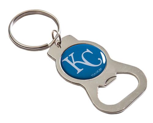 Kansas City Royals Metal Bottle Opener Key Chain - Blue