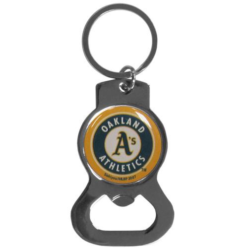 Oakland Athletics MLB Baseball Metal Bottle Opener Key Chain