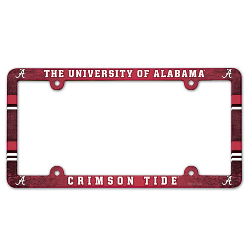 Alabama Crimson Tide NCAA Team Color License Plate Frame