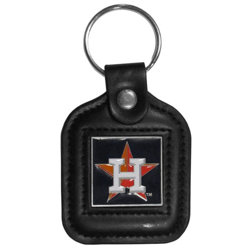 Houston Astros MLB Square Leather Key Chain Fob