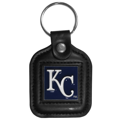 Kansas City Royals MLB Square Leather Key Chain Fob