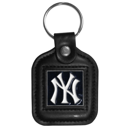 New York Yankees MLB Square Leather Key Chain Fob