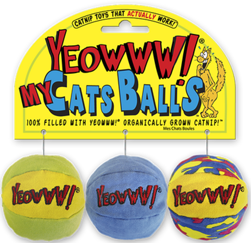 Cat Toy Balls Catnip Toys - My Cat Balls - 3 Pack