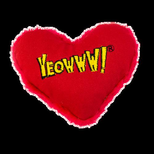 Cat Toy Heart Catnip Yeowww