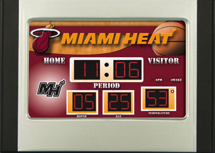 Miami Heat Scoreboard Desk Alarm Clock Dragon Sports