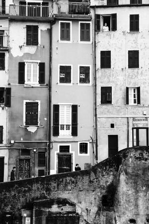Cinque Terre, Italy BW