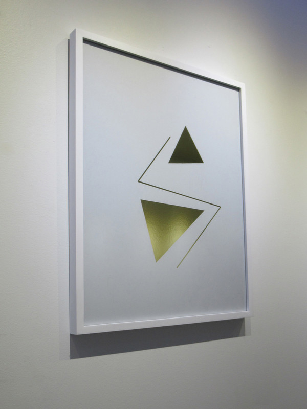 """Cipher 1"" Framed Mylar - Gallery Collection Exclusive"