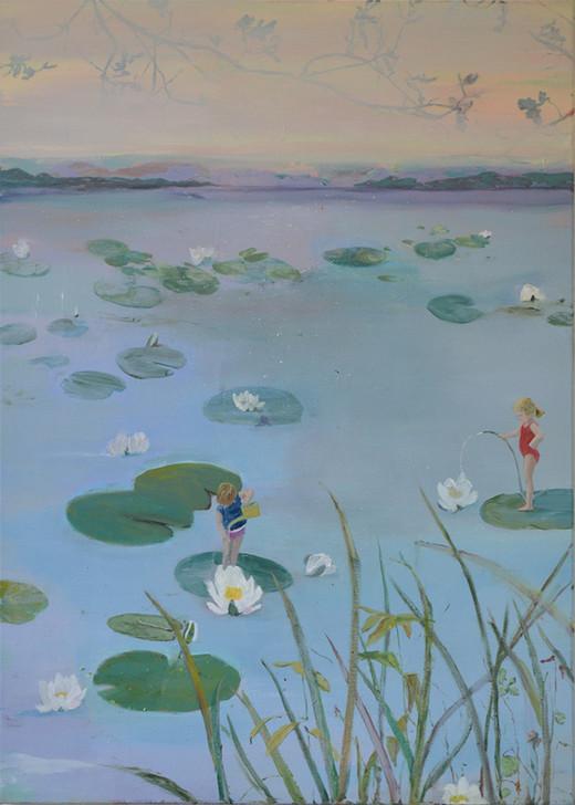 Watering water lilies