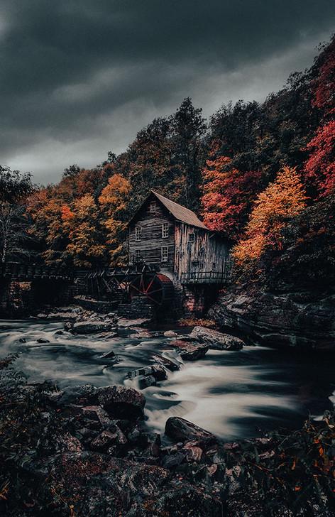 Moody Fall Morning, West Virginia
