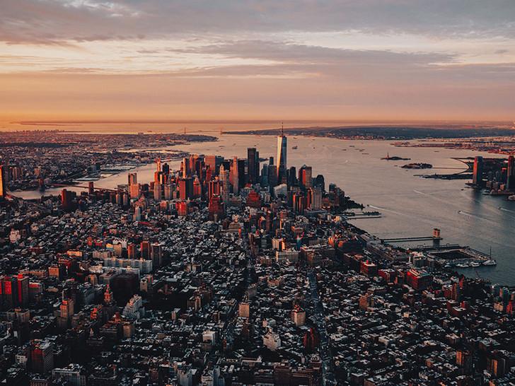 Sunrise over NYC, New York