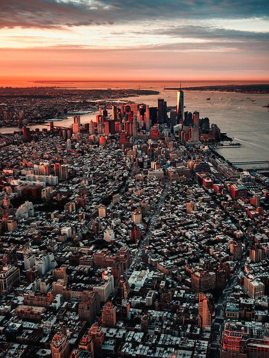 Sunrise over the Skyline, New York
