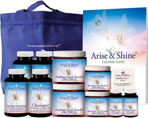 Detox and cleansing products by Arise and Shine
