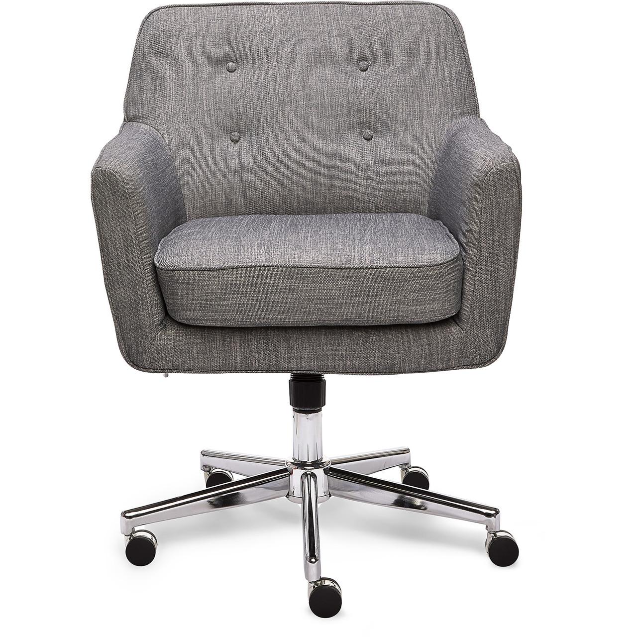 Serta Style Ashland Home Office Chair Gray Twill Fabric Clickdecor