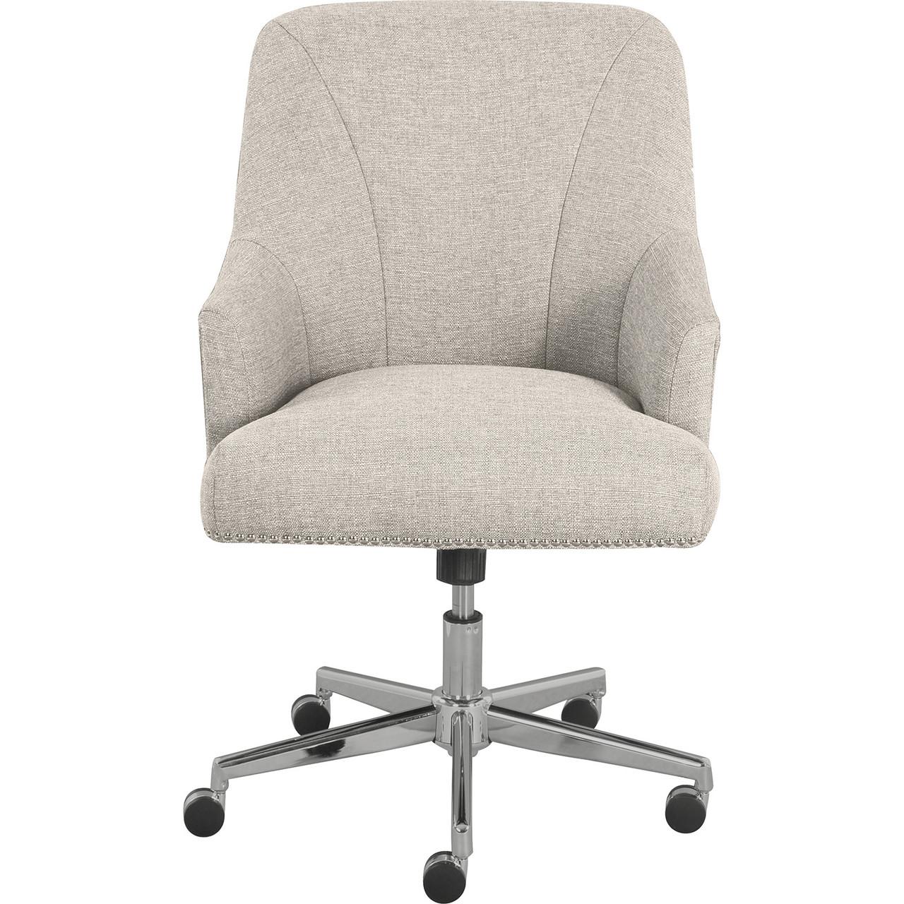 Serta Style Leighton Home Office Chair Light Gray Clickdecor