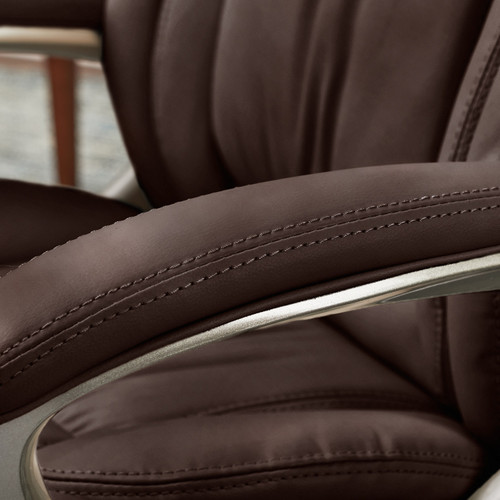 Serta Executive Office Chair Brown Bonded Leather Clickdecor
